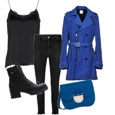 Outfit Blue and black style
