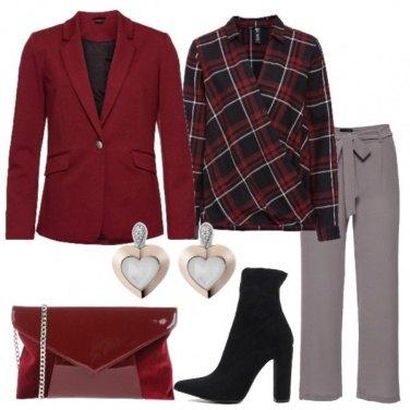 Outfit Blazer red pear camicia a portafoglio