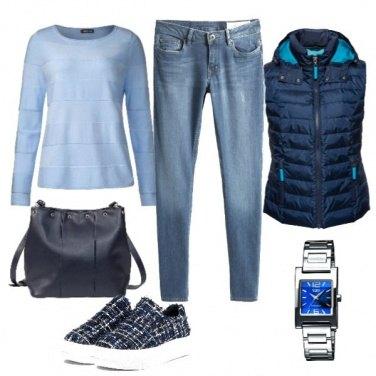 Outfit Sneakers in tweed