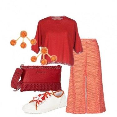 Outfit Arancio e rosso