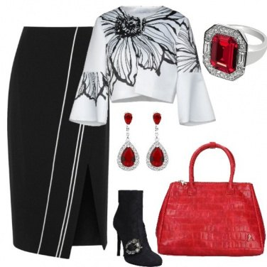 Outfit Donna rubino