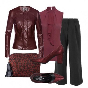 Outfit Il Burgundy