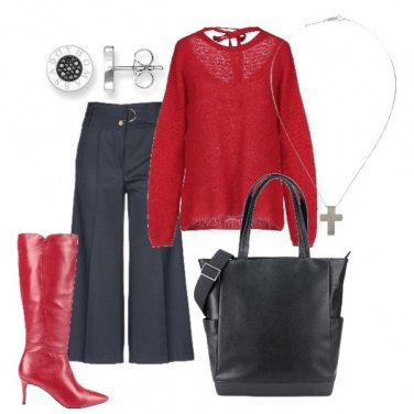 Outfit Panta-culotte & Red