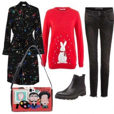 Outfit Armonia artistica ...cappottino e borsa