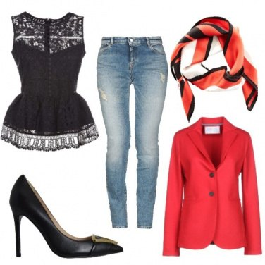 Outfit Jeans con eleganza