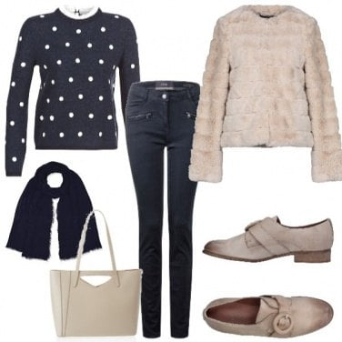 Outfit Maglia a pois