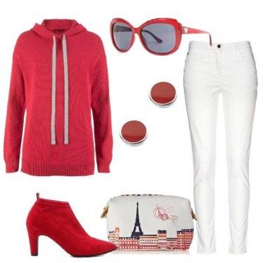 Outfit Rosso per un viaggio