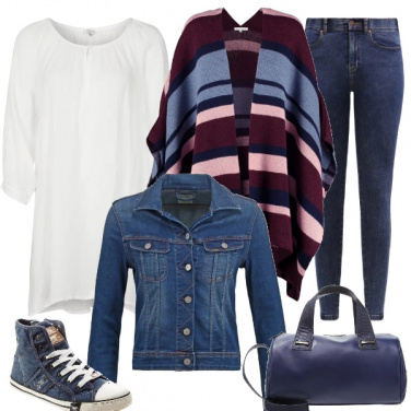 Outfit In jeans e mantella