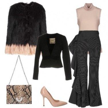 Outfit Nero e rosa cipria per una sera speciale