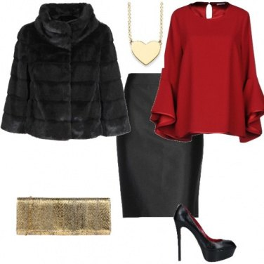 Outfit Red&gold
