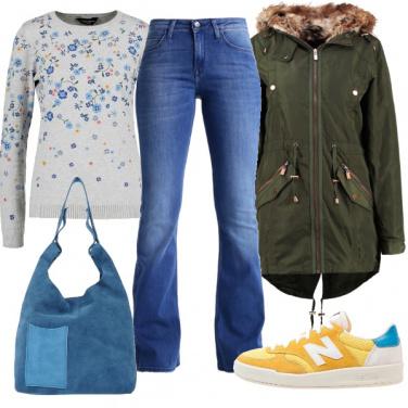 Outfit Maglia a fiori