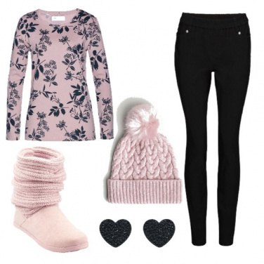 Outfit Romantica felpa