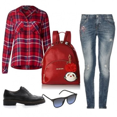 Outfit Lo zaino rosso