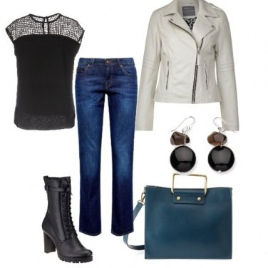 Outfit Casual blu