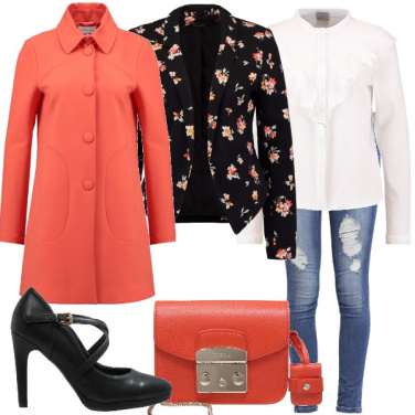 Outfit Il mio blazer a fiori
