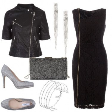 Outfit Rock argento