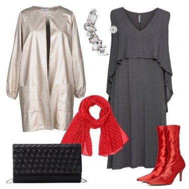 Outfit Platino e ardesia