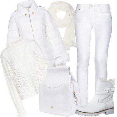Outfit Candida come la neve