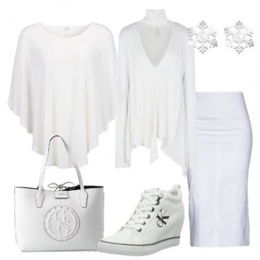 Outfit Trendy in white