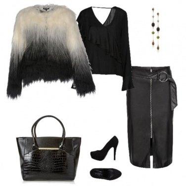 Outfit Il tubino di pelle nera