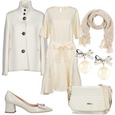 Outfit Bianco e avorio super chic