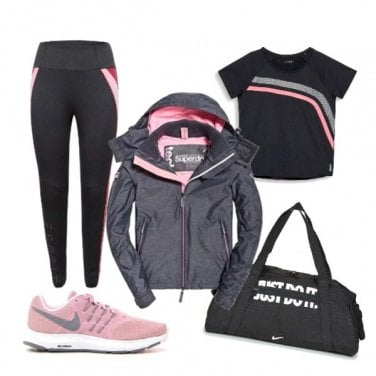 Outfit Rosa-Nero