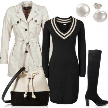 Outfit Sempre fashion in bianco e nero