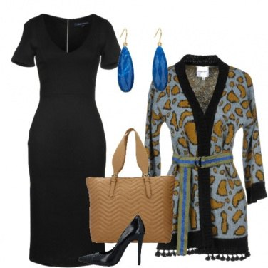Outfit Trendy con il tubino nero