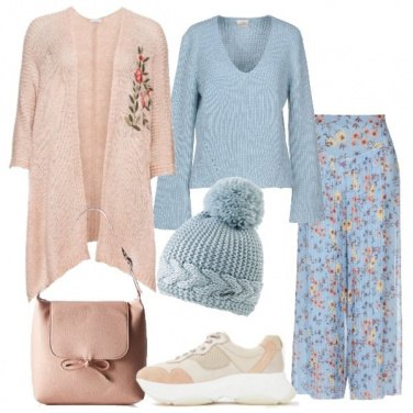 Outfit Pastelli in fiore