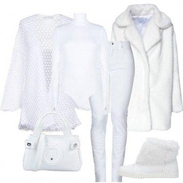 Outfit Bianco come la neve
