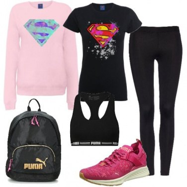 Outfit Supergirl in palestra