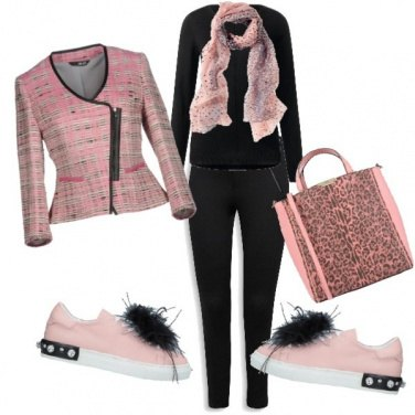 Outfit Rose ghepardato