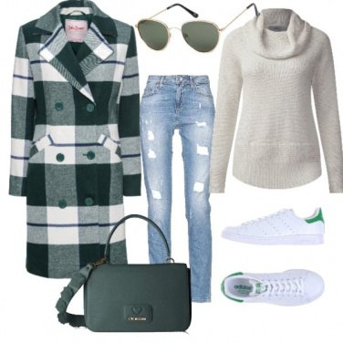 Outfit Scacchi verde oliva
