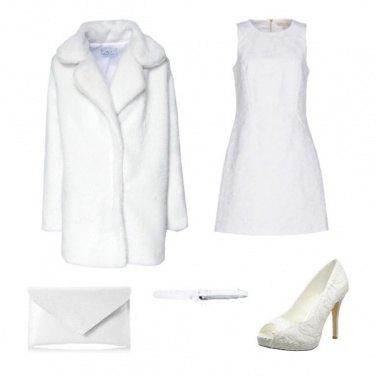 Outfit Cenone di Natale in bianco