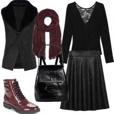Outfit Pelle e stivaletti