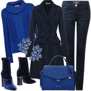 Outfit 50 sfumature di blu