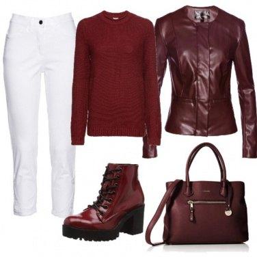 Outfit Sfumature di rosso