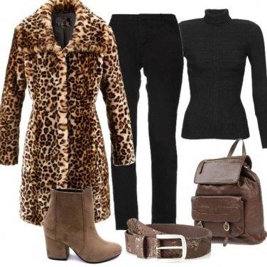 Outfit Leopard coat