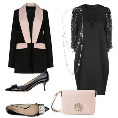 Outfit Chic con il tubino nero
