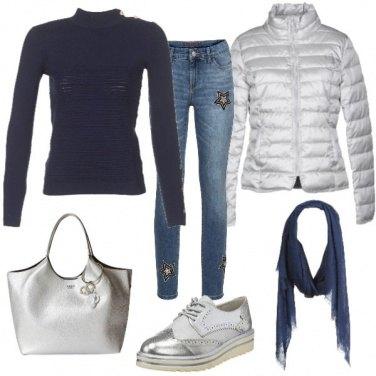 Outfit Blu e ghiaccio