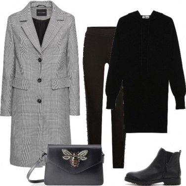 Outfit Leggings e perle