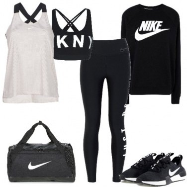 Outfit Nero e bianco per lo sport