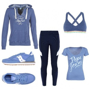 Outfit Blue sport