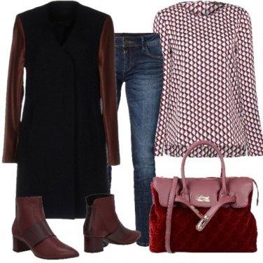 Outfit Bordeaux di tendenza