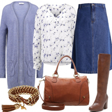 Outfit Romantica in denim