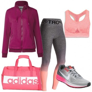 Outfit Fitness in rosa