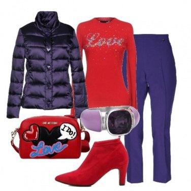 Outfit Il Natale è in viola e rosso