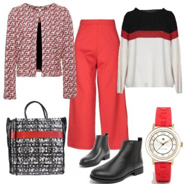 Outfit Red in autunno