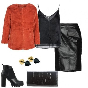 Outfit Gonna in ecopelle