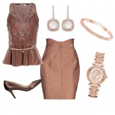 Outfit Glam in pink